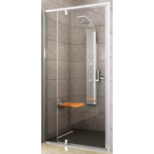 RAVAK PIVOT PDOP2 120 sprchové dveře 1161-1211x1900mm, dvojdílné, otočné, pivotové, bílá/chrom/transparent