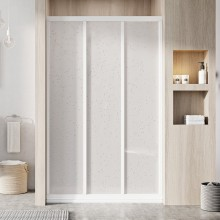 RAVAK SUPERNOVA ASDP3 120 sprchové dveře 1170-1210x1880mm, třídílné, posuvné, bílá/pearl