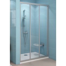 RAVAK SUPERNOVA ASDP3-90 sprchové dveře 870-910x1880mm třídílné, posuvné, bílá/umělá hmota santro