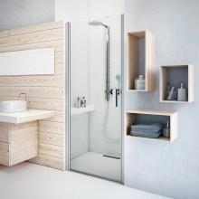 ROTH TOWER LINE TCN1/800 sprchové dveře 800x2000mm jednokřídlé, bezrámové, stříbro/intimglass