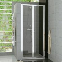 SANSWISS TOP LINE TOPK sprchové dveře 900x1900mm, zalamovací, matný elox/čiré sklo