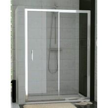 SANSWISS TOP LINE TOPS2 sprchové dveře 1400x1900mm, jednodílné posuvné s pevnou stěnou v rovině, bílá/sklo Cristal perly