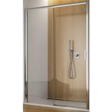 SANSWISS TOP LINE TBFS2 G sprchové dveře 1200x1900mm, jednodílné posuvné s pevnou stěnou v rovině, pevný díl vlevo, aluchrom/čiré sklo