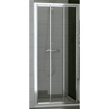 SANSWISS TOP LINE TOPS3 sprchové dveře 1200x1900mm, třídílné posuvné, matný elox/sklo Satén