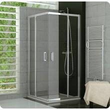 SANSWISS TOP LINE TED2G sprchové dveře 900x1900mm, dvoukřídlové, levý díl pro rohový vstup, matný elox/čirá