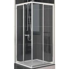 SANSWISS ECO LINE ECO G sprchové dveře 700x1900mm, levý díl pro rohový vstup, posuvné, bílá/plast-vodní kapky