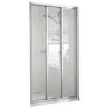 CONCEPT 100 sprchové dveře 900x900x1900mm posuvné, rohový vstup, 3 dílné s pevným segmentem, bílá/matný plast