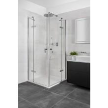 CONCEPT 400 sprchové dveře 750x1970mm, křídlové, s pevným dílem, levé, stříbrná pololesklá/čiré sklo AP