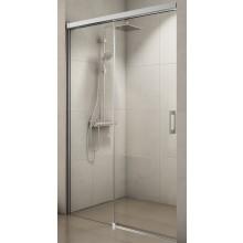 CONCEPT 300 STYLE sprchové dveře 1200x2000mm, posuvné, jednodílné, s pevnou stěnou v rovině, levé, aluchrom/čiré sklo