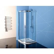 POLYSAN EASY LINE sprchová zástěna 800x800mm, čtvrtkruh, leštěný hliník/čiré sklo antidrop