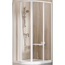 RAVAK SUPERNOVA SKCP4 90 sprchový kout 875-895x875-895x1850mm, čtvrtkruhový, čtyřdílný, posuvný, bílá/transparent