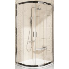 RAVAK BLIX BLCP4 80 sprchový kout 800x800x1900mm, čtvrtkruhový, posuvný, čtyřdílný, satin/transparent