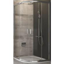 RAVAK BLIX BLCP4 80 sprchový kout 780-800x780-800x1900mm, čtvrtkruhový, posuvný, čtyřdílný, bright alu/transparent