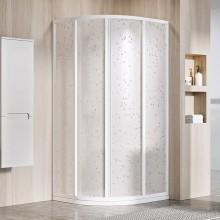 RAVAK SUPERNOVA SKCP4 90 sprchový kout 875-895x1950mm čtvrtkruhový, čtyřdílný, posuvný, bílá/pearl