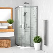 ROTH LEGA LINE LLR2/800 sprchový kout 800x1900mm čtvrtkruhový, s dvoudílnými posuvnými dveřmi, rámový, brillant/transparent