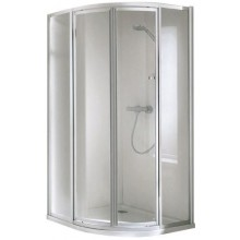 CONCEPT 100 sprchový kout 1000x1000x1900mm čtvrtkruh, 4 dílný, bílá/matný plast