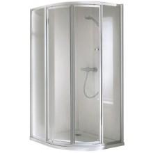CONCEPT 100 sprchový kout 1000x1000x1900mm čtvrtkruh, 4 dílný, stříbrná/matný plast