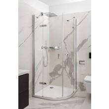 CONCEPT 400 sprchový kout 1000x1000x2000mm, čtvrtkruh, 4 dílný, R500, stříbrná pololesklá/čiré sklo AP
