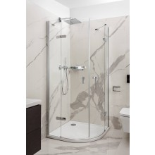 CONCEPT 400 sprchový kout 900x900x2000mm, čtvrtkruh, 4 dílný, R550, stříbrná pololesklá/čiré sklo AP