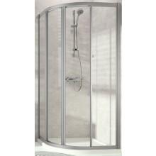 CONCEPT 70 sprchový kout 1000x1000x1900mm, čtvrtkruh, 4 dílný, stříbrná matná/čiré sklo AP
