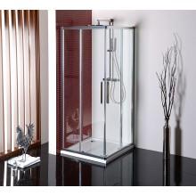 POLYSAN LUCIS LINE sprchová zástěna 900x900x2000mm, čtverec, rohový vstup, leštěný hliník/čiré sklo