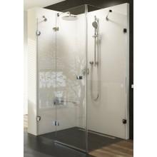 RAVAK BRILLIANT BSDPS-90R sprchové dveře 900x900x1950mm s pevnou stěnou, pravé, chrom/transparent