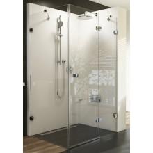 RAVAK BRILLIANT BSDPS-100R sprchové dveře 1000x1000x1950mm s pevnou stěnou, pravé, chrom/transparent