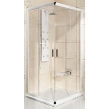 RAVAK BLIX BLRV2-80 sprchový kout 800x800x1900mm rohový, posuvný, čtyřdílný satin/transparent 1LV40U00Z1