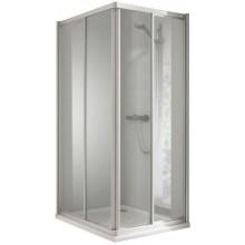 CONCEPT 100 sprchový kout 900x900x1900mm rohový 4 dílný, bílá/matný plast