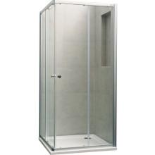 CONCEPT 100 NEW sprchový kout 1000x1000x1900mm čtverec, 4 dílný, stříbrná matná/čiré sklo s AP
