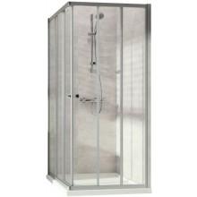 CONCEPT 100 NEW sprchový kout 800x800x1900mm čtverec, 3 dílný, stříbrná matná/čiré sklo AP