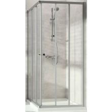 CONCEPT 100 NEW sprchový kout 1000x1000x1900mm čtverec, 3 dílný, stříbrná matná/čiré sklo AP