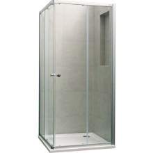 CONCEPT 100 NEW sprchový kout 900x900x1900mm čtverec, 4 dílný, stříbrná pololesklá/čiré sklo s AP