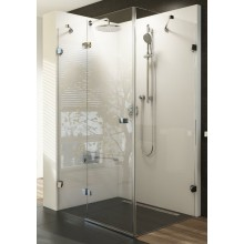 RAVAK BRILLIANT BSDPS 100/80L sprchové dveře 1000x800x1950mm s pevnou stěnou, levé, chrom/transparent