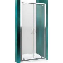 ROLTECHNIK LEGA LINE LLDO2/800 sprchové dveře 800x1900mm dvoukřídlé pro instalaci do niky, rámové, brillant/transparent