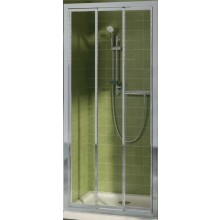 IDEAL STANDARD CONNECT dveře posuvné 1000x1900mm, 3dílné, sklo, lesklá stříbrná