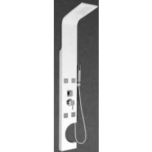 SANJET ORTOSIA sprchový panel 20x160cm hydromasážní, bílá mat/hliník