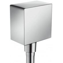 HANSGROHE SQUARE FIXFIT přípojka hadice se zpětným ventilem a plastovým připojením chrom 26455000