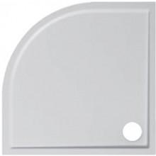 JIKA PADANA sprchová vanička 900x900x30mm, R550mm, čtvrtkruhová, z litého mramoru, bílá