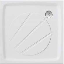 RAVAK PERSEUS PRO 80 sprchová vanička 800x800mm, z litého mramoru, extra plochá, čtvercová, bílá