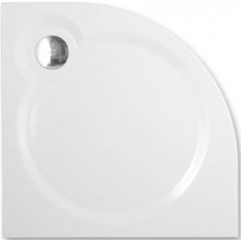 ROTH TAHITI-M sprchová vanička 800x800x30mm R550 mramorová, čtvrtkruhová, bílá