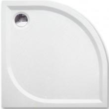 ROTH DREAM-M sprchová vanička 800x800x30mm, R550 mramorová, čtvrtkruhová, bílá