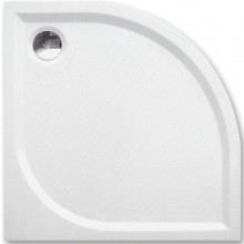 ROTH DREAM-M sprchová vanička 900x900x30mm R550 mramorová, čtvrtkruhová, bílá
