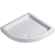 KOLO NEVA sprchová vanička 900x900x110mm, čtvrtkruh, s profilovaným dnem, keramika, bílá
