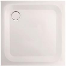 CONCEPT 200 sprchová vanička 90x90x2,5cm, čtverec, ocel, bílá