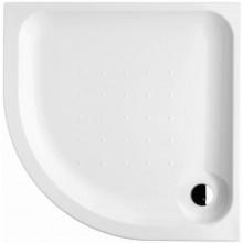 DEEP BY JIKA akrylátová sprchová vanička 800x800mm, čtvrtkruhová, samonosný rám, bílá