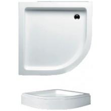 RIHO 210 sprchová vanička 90x90x8,5cm, čtvrtkruh včetně panelu a nožiček, akrylát, bílá