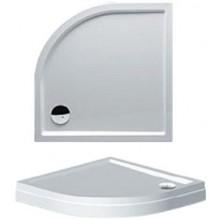 RIHO DAVOS 281 sprchová vanička 90x90x14cm, čtvrtkruh, s nohami a panelem, akrylát, bílá