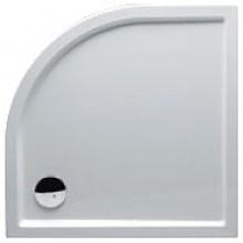 RIHO ZÜRICH 284 sprchová vanička 100x100x4,5cm, čtvrtkruh, bez podpěr a bez panelu, akrylát, bílá