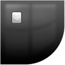 RIHO BASEL 451 sprchová vanička 900x900x45mm, čtvrtkruh, včetně sifonu, akrylát, černá lesk